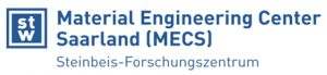 Material Engineering Center Saarland MECS logo with text in blue
