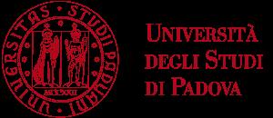 Università degli Studi di Padova UNIPD round logo and red text.